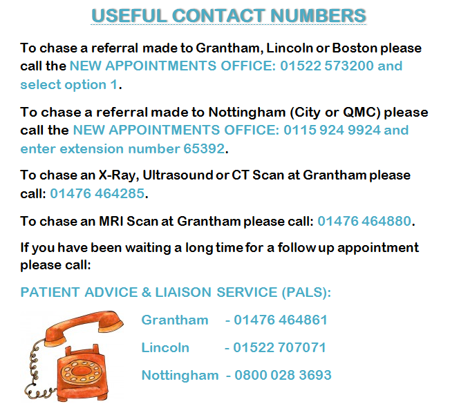 Useful Contact Numbers